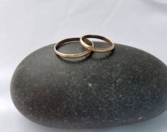 Set of 2 GOLD FILLED Stacking Rings. Made to Order. Free shipping.