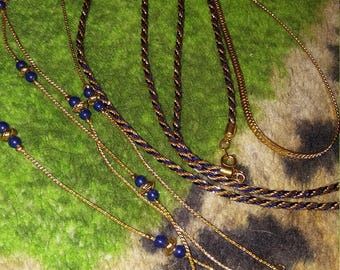 Trio Of Maggie Lawrence Long Vintage Necklaces