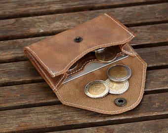 Slim Leather Wallet, Minimalist Wallet, Leather Wallet, Slim Wallet, For Him