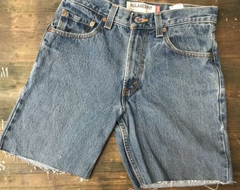 Levi Strauss 550 W29 Denim Cutoff Shorts