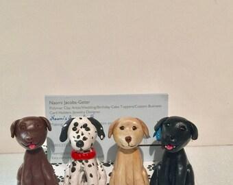 Polymer clay business card holder, custom,handmade,ooak,Kawaii desktop business card holder