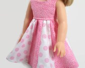 "14.5 Inch Doll Clothes - Pink and White Dress - Made to Fit 14.5"" Dolls Like Wellie Wisher Doll Clothes"
