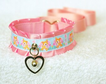 25% DISCOUNT: Deerest Baby - collar for pet play, age play, kitten play, abdl, ddlg, bdsm, lolita