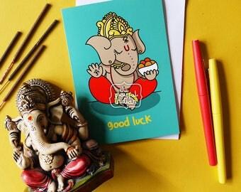 Good Luck Ganesh Greeting Cards