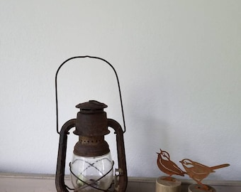 Vintage Dietz Little Wizard Lantern Rusty Metal Farmhouse