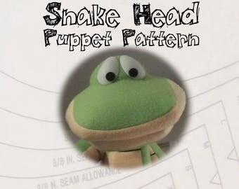 Snake Head Puppet Pattern