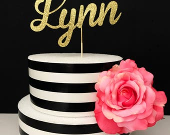 Princess Name cake topper- Cake Topper-princess cake topper- personalized name cake topper- crown cake topper- birthday cake topper