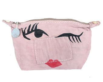 Ali Lamu Large Clutch Bag Pink Wink