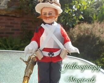 "Original ""Children of Steam"" Major Archibald Austin-Jones A unique Steampunk doll"