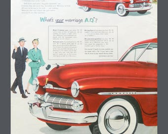 1950 Mercury Car Vintage Ad - Old Ford Advertising - Magazine Advertisment