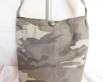 Shoulder/Crossbody Carry Purse/bags (Camo) Button enclosure, lined, with pocket