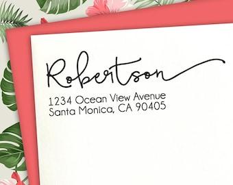 Return Address Stamp, Calligraphy Stamp, Custom Stamp, Wedding Stamp, Address Stamp, Family Stamp, Address Stamp, Custom Address Stamp