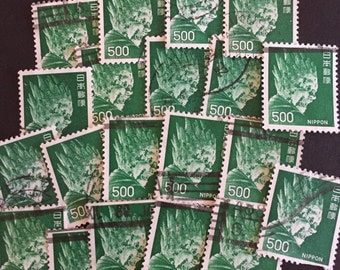 Monster Postage Stamps Lot of 20 Antique Vintage Green