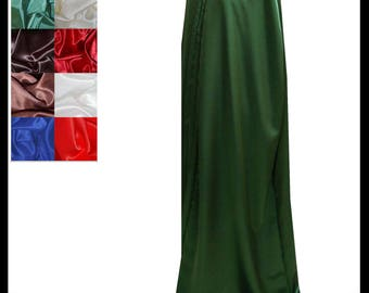 Green Shimmer Satin Cloak lined with Shimmer Satin. Ideal for LARP LRP Medieval Cosplay Costume. Made especially for you. NEW!