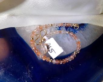 Oregon Sunstone AAA bracelet 14k gold filled item 965