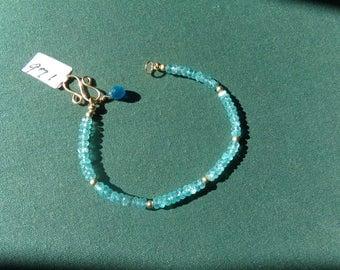 Apatite bracelet 14k gold filled  item 971