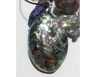 Abalone Shell Necklace + Free Shipping,  shell jewelry, abalone shell pendant, shell necklace, ocean jewelry, women's jewelry