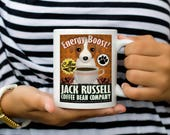 Jack Russell Terrier Coffee Mug - Jack Russell Coffee Bean Company Coffee Mug - Dog Lover Tea Cup - 11 oz Ceramic Mug - Item JRCO