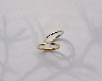 Silver Textured Ring Gold Textured Ring Gold Nature Ring Textured Wedding Band