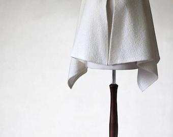 Ecru poncho, bridal poncho, wool cape, open poncho, wool jacket, wool sweater, womens poncho, womens cape, wedding poncho, wedding cape