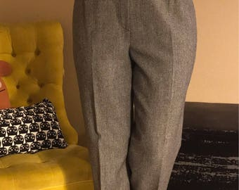 Vintage Wool Houndstooth Slacks.