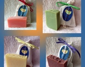 Four Soaps - Mix & Match Four - Four Ounce Handmade Cold Process Everyday Soaps