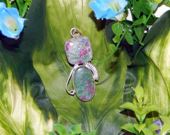 Pegasus Earth Elemental inspired vessel - Handcrafted Ruby Fuchsite Kyanite pendant necklace
