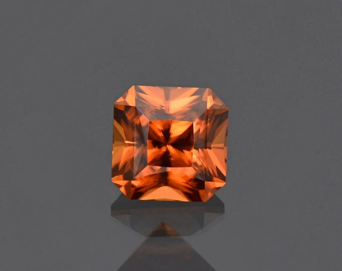 Excellent Autumn Orange Zircon Gemstone Brilliant Asscher Shape 2.36 cts.