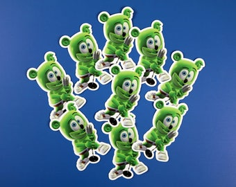 Gummibär (The Gummy Bear) Die Cut Sticker Set of 8 ~ Party Favor Set