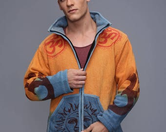 Men's Winter Jacket - Pixie jacket with removable hoodie - Very Warm Jacket  - Burning man