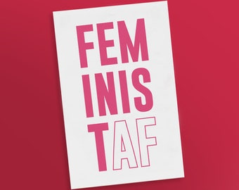 Feminist AF Temporary Tattoos | Women Empowerment | Girl Power | Future is Female