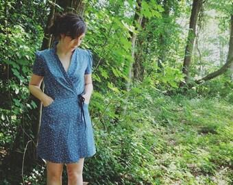 robe kimono. robe portefeuille. robe femme petite robe d'été. jupe portefeuille. robe cache coeur. le panda volant