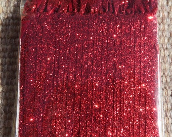 Red Glittered Ribbon ornament hangers,50/pkg,satin ribbon,Christmas ornament hanger,crafts,holiday ornaments