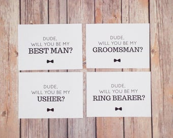 Groomsman Proposal Cards Set INSTANT DOWNLOAD Printable - DIY, Will You Be My Best Man, Groomsmen, Usher, Ring Bearer, Wedding Print Out