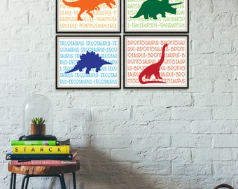 Etonnant Dinosaur Decor, Boys Room Decor, Dinosaurs Print, Dinosaur Nursery, Dinosaur  Playroom,