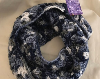 Blues Baby crocheted infinity cowl