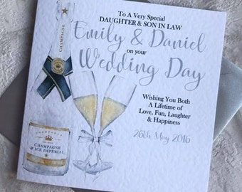 Personalised Son/Daughter/Brother/Sister/Special Friends/Special Couple Wedding Day Card