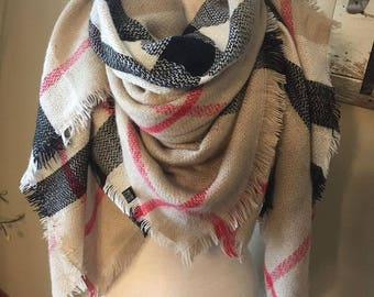 Blanket scarves { Plaid, buffalo plaid, herringbone, more }
