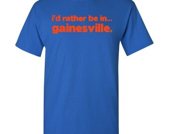 I'd Rather Be In...Gainesville T Shirt - Royal