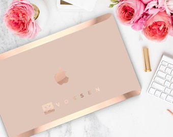 Rose Gold Embossed Company Logo or Company Name (Carved Out in Rose Gold)  - Touch of Personality and glamour -  Platinum Edition