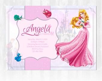 Sleeping Beauty Birthday Party Invitation, Aurora Birthday Invitation, Princess Birthday Party Invitation, Princess Birthday Party , Disney