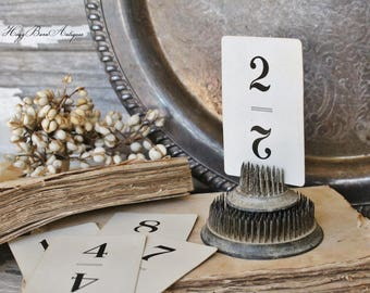 Vintage Flinch Number Card Game Farmhouse Decor Fixer Upper Style Cardboard Black Number