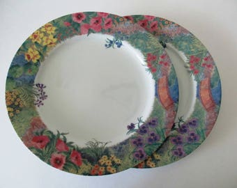 Two Nikko Secret Garden Dinner Plates, More Available