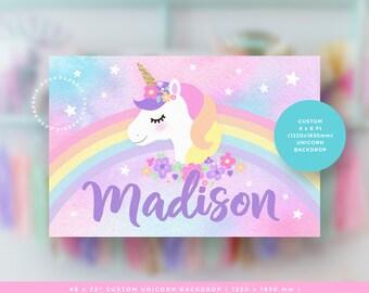 Unicorn Backdrop. Unicorn Birthday Party. Unicorn Party Decorations. YOU PRINT.