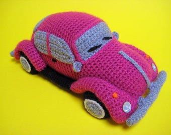 Amigurumi VW Beetle Volkswagen Inspired VW Bug Car Crochet Pattern PDF