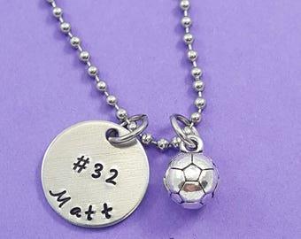 Soccer Necklace - Boys Soccer - Girls Soccer - Soccer Mom necklace - Sports team - Soccer Team - Gift for Soccer player