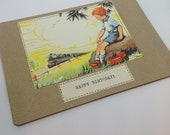 Vintage Book Greeting Card.