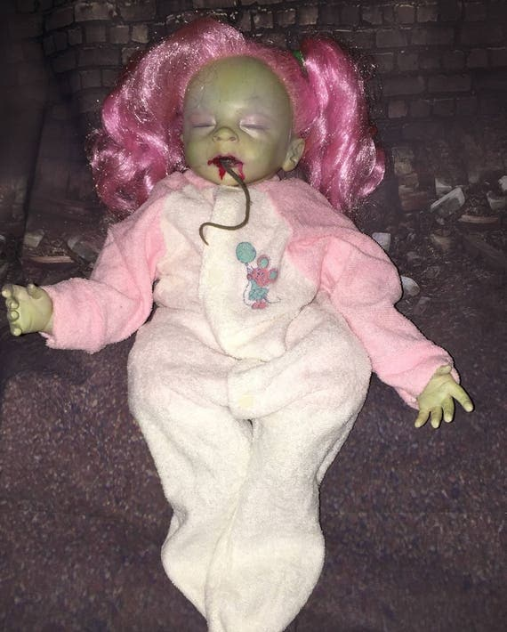 Glamorous Undead Original Reborn Zombie Rotting Ghoul Dressed For Bed Just Fed Biohazard Baby