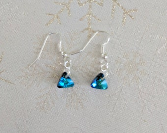 Blue Swarovski Triad Crystal earrings
