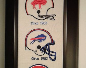 Buffalo Bills Heritage Team Banner....Framed